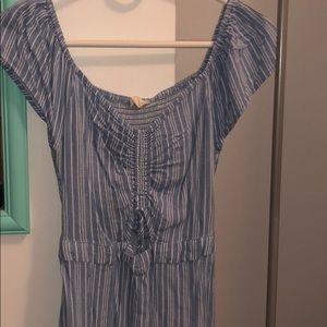 Off the shoulder striped Aeropostale dress.
